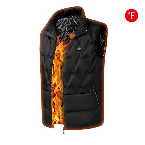 iBaste Heizweste Damen Beheizte Weste Herren Daunenjacke mit USB Winterweste Warme Daunenweste Elektrische Weste für Outdoor Sport