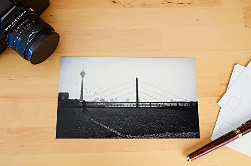 Postkarte XXL Panorama Düsseldorf Fernsehturm Rheinterrassen
