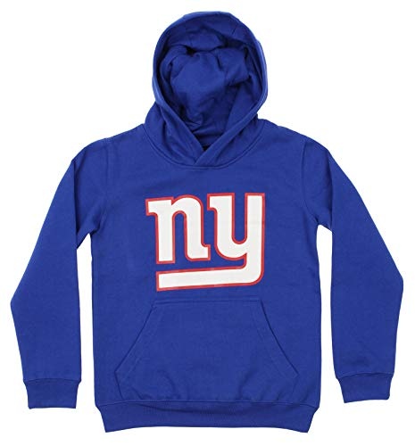 OuterStuff NFL Youth Boy's (8-20) Primary Logo Team Color Fleece Hoodie, New York Giants X-Large(18-20)