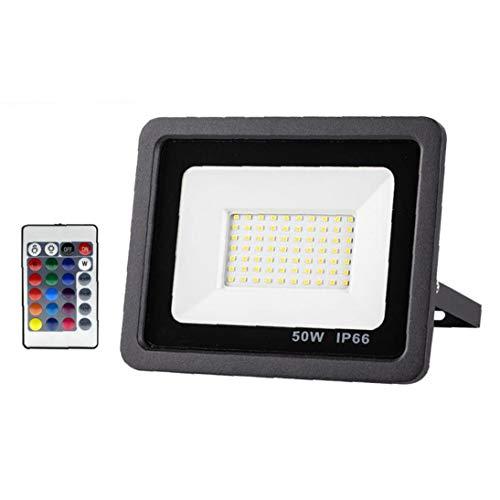 Kacniohen Reflector LED de luz de Seguridad Impermeable al Aire Libre de iluminación LED de Seguridad para el Patio Delantero del Jardín Garaje Pared del Patio
