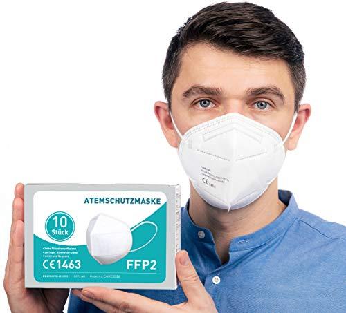 FFP2 Maske CE Zertifiziert [10 Stück] CE1463 Atemschutzmaske Mundschutz