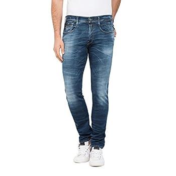 Replay Herren Anbass Slim Jeans Dark Blue