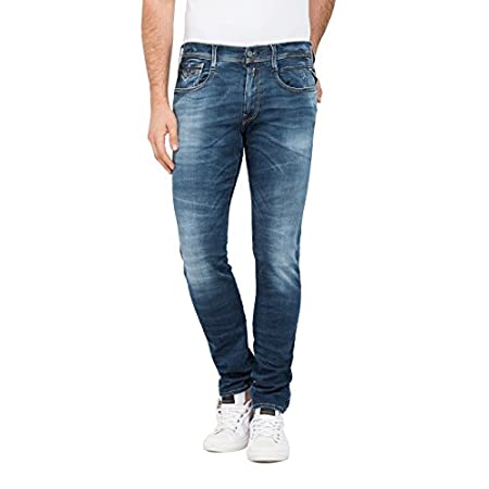 Replay Herren Anbass Slim Jeans Dark Blue