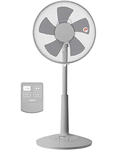 [山善] 扇風機 30cm リビング扇 ワイヤレスリモコン 風量調節3段階 タイマー機能付き グレー YLR-C30(GY) [メーカー保証1年]