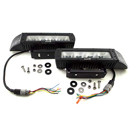 Buyers Products 1312100 Universal Heated LED Snow Plow Lights - Cut and Splice