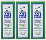 X3 pcs Singpaore Axe Brand Universal Oil 28 ml / 0.95 fl oz Relief Cold & Headache