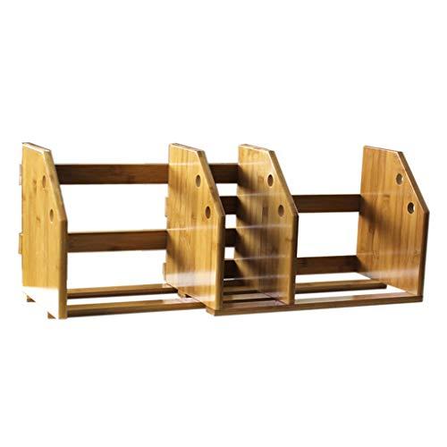 Bibliothèques Bamboo Simple Bookshelf Table Small Bookshelf Étagère de bureau (Color : Brown)