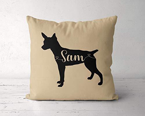 Wini2342ckey Custom Rat Terrier Pillow, Personalized Rat Terrier Pillow Case Cover, Rat Terrier,...