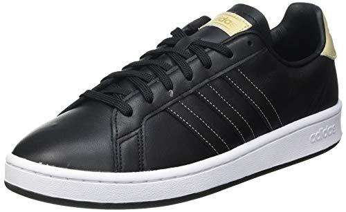 adidas Grand Court, Scarpe da Tennis Uomo, Nero (Core Black/Core Black/Savannah), 40 2/3 EU