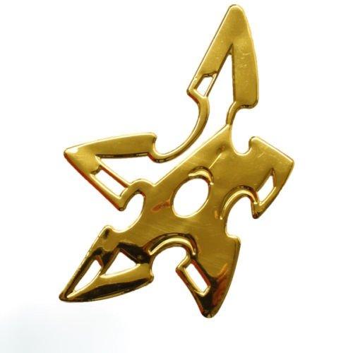 Sticker 3D chrome doré étoile de nINJA voiture moto dZ- 32 g