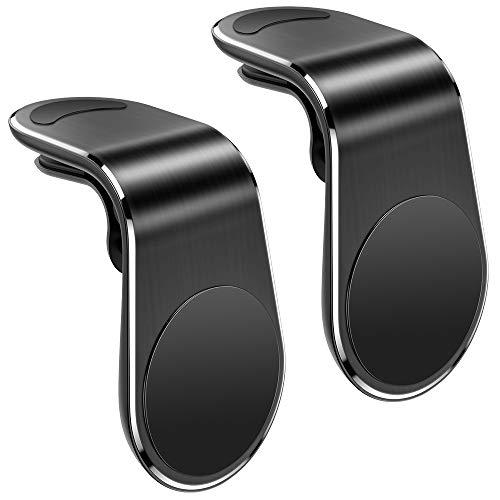Warxin Handyhalter Fürs Auto, Magnet KFZ Handyhalterung (2 Stücke) fürs Auto Lüftung Stark Magnetisch Mini-Größe Handy Halter Universale Halterungen Für iPhone Samsung Huawei Smartphone