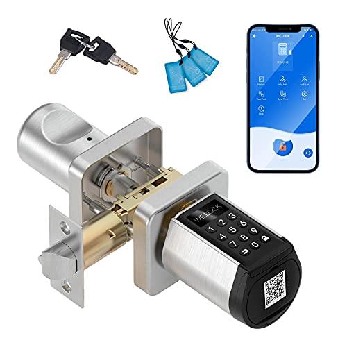 WE.LOCK Smart Lock, Keypad Door Knob with Bluetooth, Door Locks with Keypads, Keyless Entry Door Lock with APP for Home Hotel Interior Doors