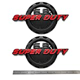 2pcs OEM 6.8L Super Duty Triton V10 Side Fender 3D Logo Emblems Superduty Badge Replacement for F250 F350 6.8 Red Black