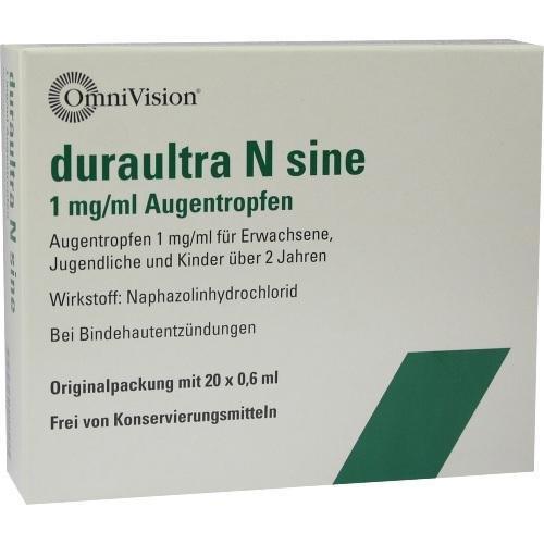 DURAULTRA N SINE 20X0.6ml Augentropfen PZN:7788698