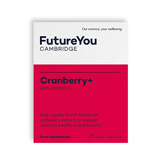 Cranberry+ with Vitamin C for Women's Health and Immunity - Vegan Suitable - 28 Day Supply - Developed by FutureYou Cambridge, UK