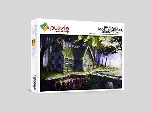 RNGNB 1000 Piezas Rompecabezas Mini Puzzles Creativo Puzzle Adultos Alivio del Estrés para Infantiles Adolescentes Cabaña De Madera 38Cm X 26Cm