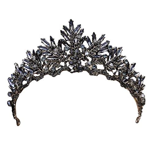 HAWFHH Corona De La Reina Crown Barroca Novia De La Boda Venda...