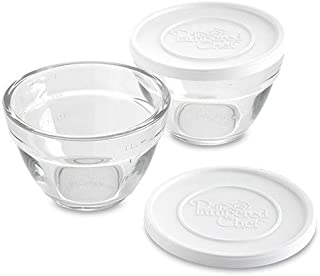 Pampered Chef 2 Cup Prep Bowl Set with Lids - Set of 2