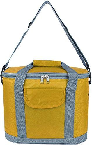 Storfisk fishing & more Isolierte wasserdichte Kühltasche Kühlbox mit verstellbarem Tragegurt und viel Stauraum, Farbe :Gelb