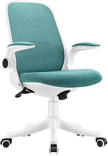 Life Equipment Chaise pivotante Coussin en éponge en lin respirant Bureau à domicile avec accoudoir rotatif Chaise de travail informatique 4 couleurs Chaise rotative à 360 degrés en option (Couleur