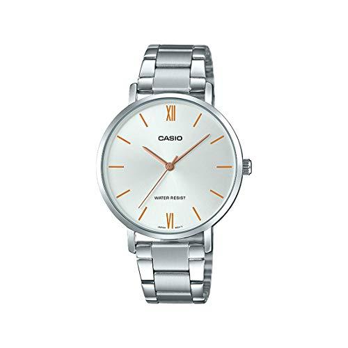 Casio Ltp-vt01d-7budf Reloj Analógico para Mujer Colección Dress Caja De Metal Esfera Color Plateado