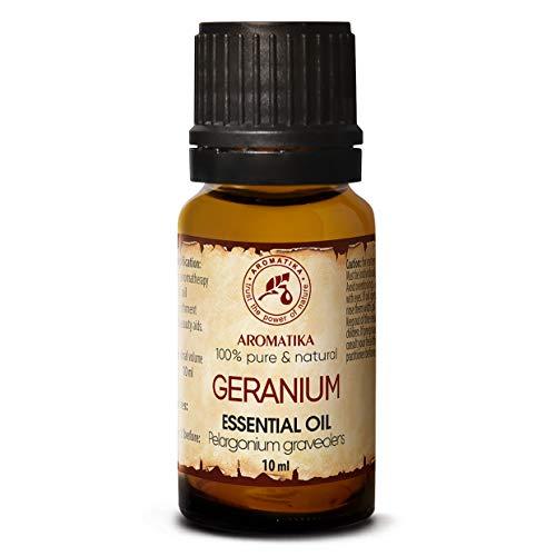 AROMATIKA Aceite esencial de geranio 100% puro y natural de Egipto para aceite esencial de difusor de belleza, aromaterapia y relajación 10ml