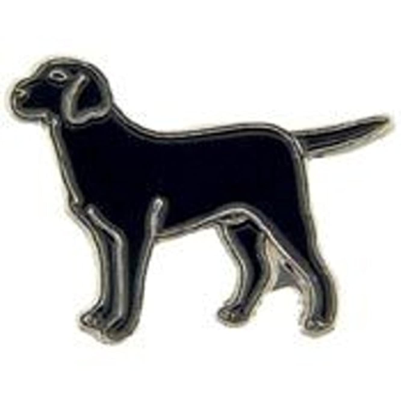 EagleEmblems P00351 Pin-Dog,Lab,Black (1'')