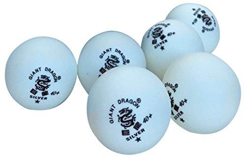 Pelotas de Ping Pong Kounga Giant Dragon, Blanco (Empaque de 6), Unisex Adulto, Blanco, Talla Única