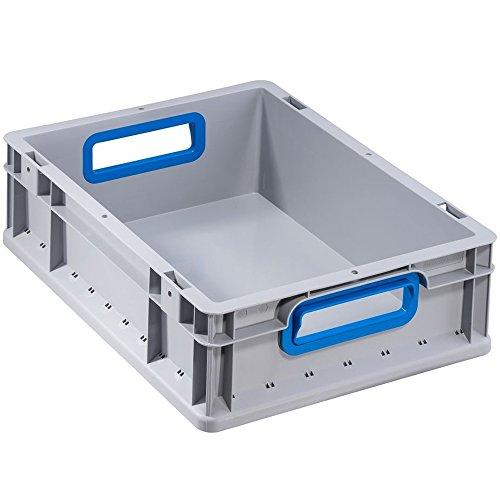 """Preisvergleich Produktbild Allit 456725 EuroBox 417"""" 400 x 300 x 170 mm offene Griffe in grau / blau"""