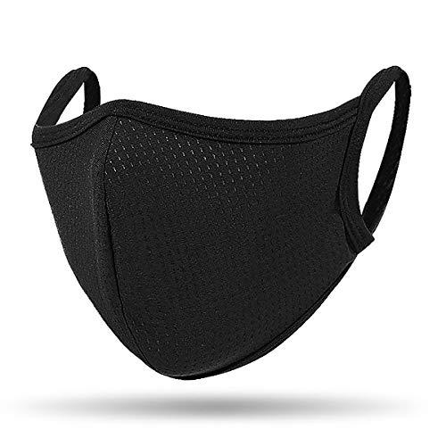 QueensFace Mesh Dot Breathble Outdoor Riding Running Face Mask Black