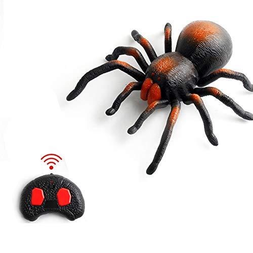Juguete de Control Remoto de Insectos, Hormigas infrarrojas Cucarachas Arañas Control Remoto Simulacro de Truco de Animal Falso RC para niños Regalo de Juguete de Navidad de Halloween (Arañas)