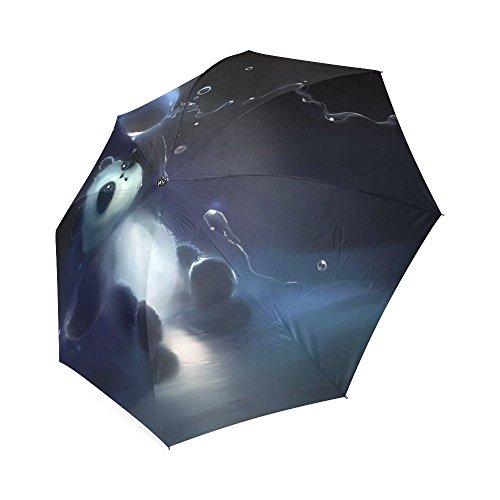 Aangepaste unieke Panda spelen met de Bubble vouwen regen parasol/zon paraplu