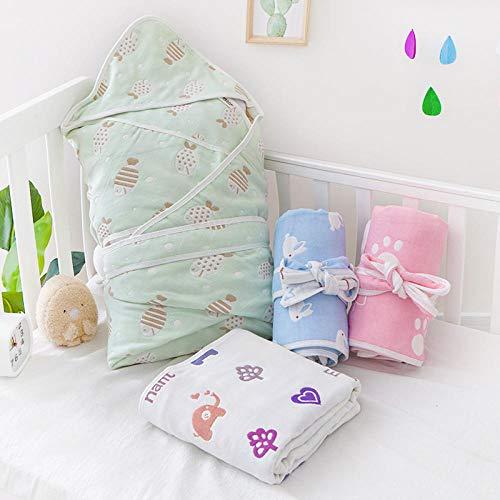 B/H Sacco a Pelo Bebè per L'Estate,Trapunta per Neonato in Puro Cotone, Sacco a Pelo, Molte Taglie Disponibili, Colore Casuale Colore_45 * 80