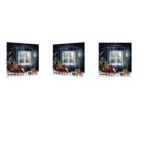 Amuzocity Set of 3 Modern Window Curtains Decorations Ornaments Arts Crafts