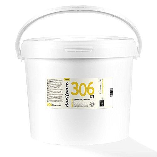 Naissance Sheabutter BIO (Nr. 306) 5kg (5000g) - rein und natürlich, unraffiniert, BIO zertifiziert, handgeknetet, vegan & parfümfrei - ethisch und nachhaltig hergestellt aus Ghana