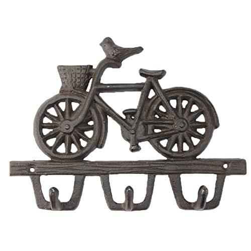 WANDOM 2 stuks Nordic landelijke retro ijzeren vogel fiets dubbele haak thuis praktisch handwerk fabriek directe verkoop