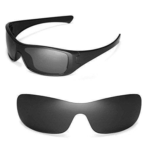 Walleva Ersatzgläser für Oakley Antix Sonnenbrille - Mehrfache Optionen (Schwarz - polarisiert)