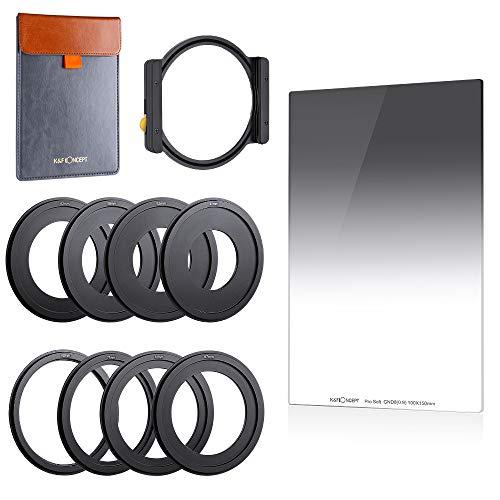 K&F Concept Square Filter Set Rechteckfilter Soft GND8 Verlaufsfilter mit Filterhalter Kit