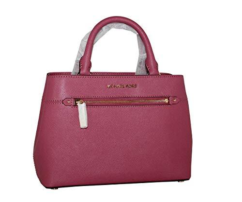 MICHAEL Michael Kors Women's HAILEE XSMALL Satchel Leather Handbag TULIP
