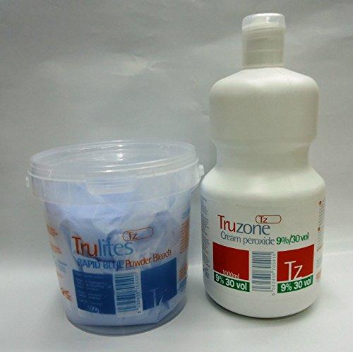 SETS OF TRUZONE CREAM PEROXIDE 9% (30 VOL) 1000ML & RAPID BLUE HAIR BLEACH 500GM