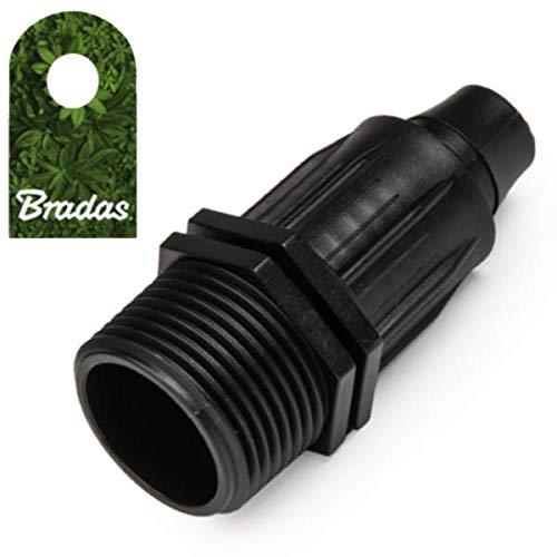 """Bradas Verbinder auf 16mm PE Rohr Fitting Kupplung AG 3/4"""" 2708"""