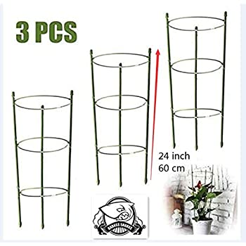 Roses Heavy Duty Hydrangea Black-Pack of 1 ARSUK Garden Cage Plant Support Flower Border Frame for Peonies