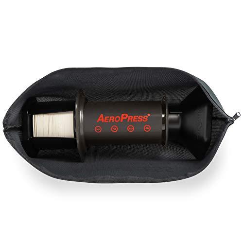 Aeropress coffee kit on white background