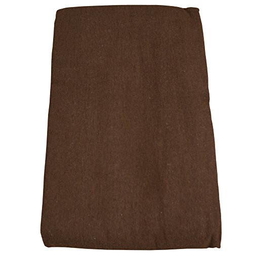 Body Linen Flannel Flat Massage Table Sheet - Chocolate - 61x100 inches - 100% Cotton