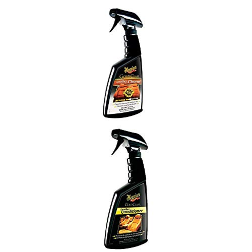 Meguiar's G18516EU Gold Class Leather & Vinyl Cleaner Lederreiniger + G18616EU Gold Class Leather Conditioner
