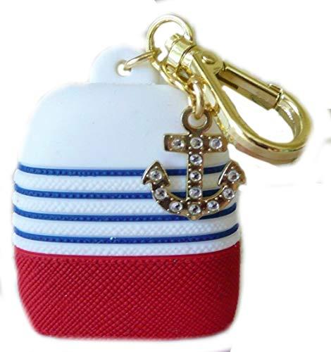 Bath Body Works PocketBac Hand Gel Holder Stripe Nautical Anchor