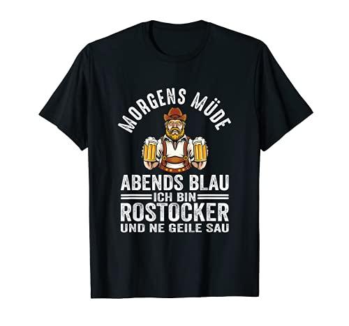 Herren Rostock Hansestadt Bier Party Feiern Rostocker Lustig T-Shirt