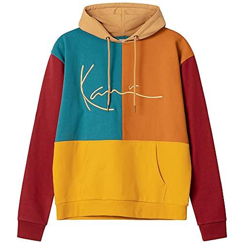 Karl Kani Signature Block Hoodie - Sudadera unisex con capucha, multicolor, multicolor, XL