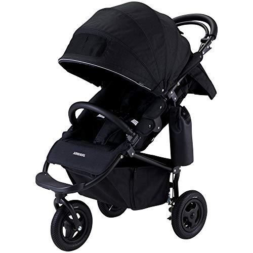 AirBuggy(エアバギー) 3輪ベビーカー ココ ブレーキ エクストラ フロムバース 新生児から使用可能 メッシュクッション内蔵・専用レインカバー付き アースブラック 0か月~ (保証付き) ABFB1005
