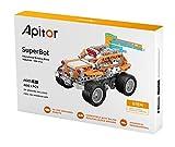 SPC Apitor SuperBot, robot educativo STEAM,  18 robots prediseñados y más de 400 piezas para crear construcciones propias, control remoto mediante app, compatibilidad con resto de plataformas
